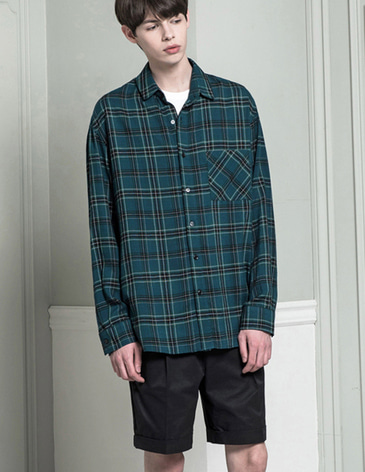 SUMMER CHECK SHIRTS [GREEN]