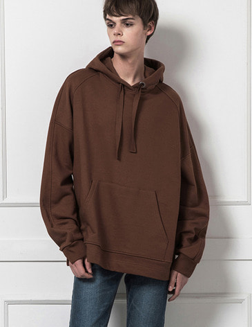 ESSENTIAL BASIC HOODIE [BROWN]