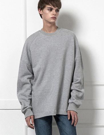 ESSENTIAL BASIC SWEATSHIRT [M.GREY]
