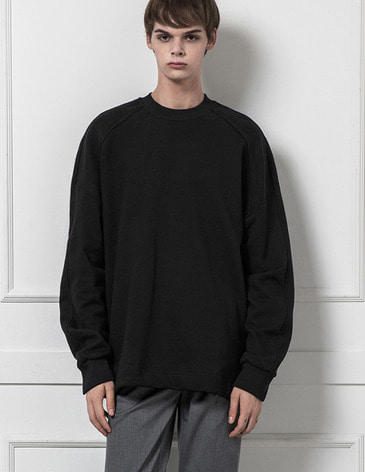 ESSENTIAL BASIC SWEATSHIRT [BLACK]