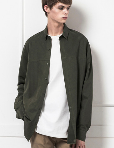 BASIC TENCEL SHIRTS [KHAKI]