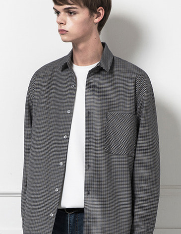 BLENDED CHECK SHIRTS [GREY]