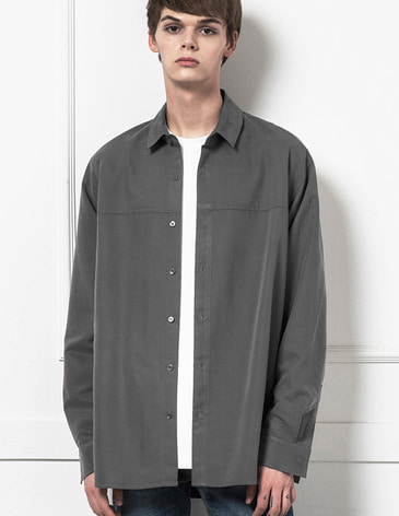 BASIC TENCEL SHIRTS [GREY]