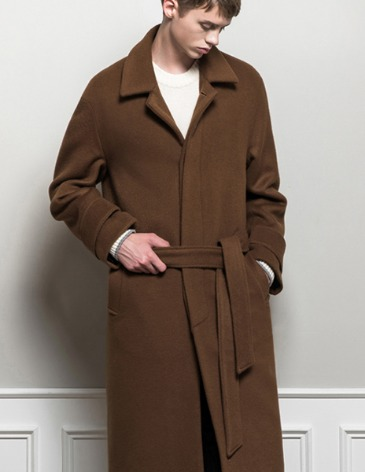 CASHMERE ROBE MAC COAT [DEEP CAMEL]