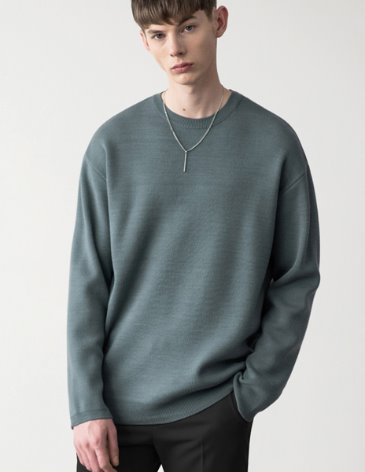 19SS PREMIER EDITION WOOL CASH ROUND KNIT [D.MINT]