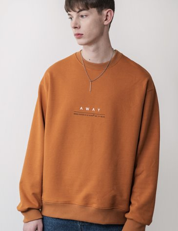 AWAY SWEATSHIRT [MUSTARD]