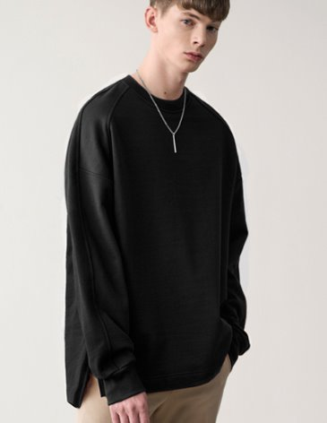 [RE-EDITION] ESSENTIAL SWEATSHIRT [BLACK]