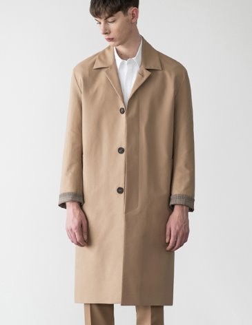 SOLID HIGH COTTON SINGLE COAT [BEIGE]