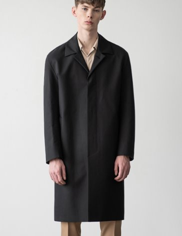 SOLID HIGH COTTON SINGLE COAT [BLACK]