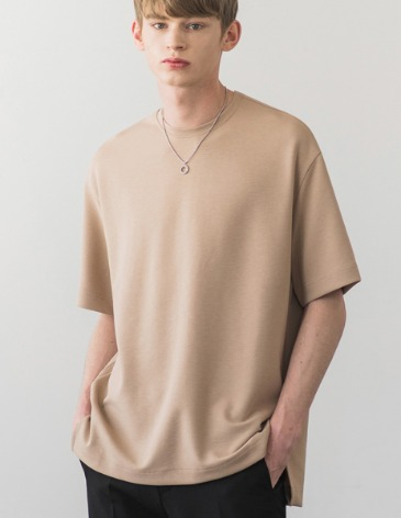 ESSENTIAL BASIC T-SHIRTS [BEIGE]