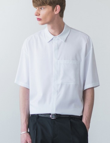 MINIMAL BALANCING POCKET SHIRT [WHITE]