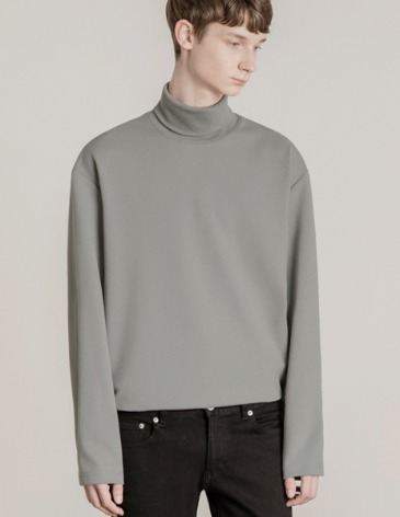 19F/W TURTLE VENT LAYERED T-SHIRT [GREY]