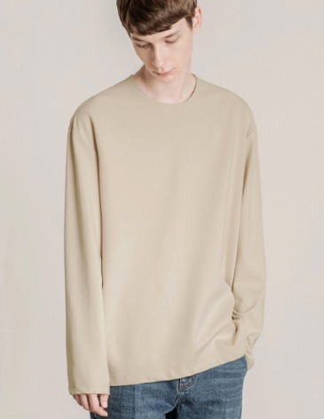 19F/W VENT LAYERED T-SHIRT [CREAM]