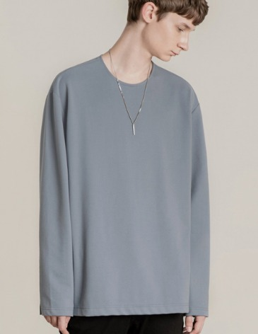 19F/W VENT LAYERED T-SHIRT [INDI BLUE]