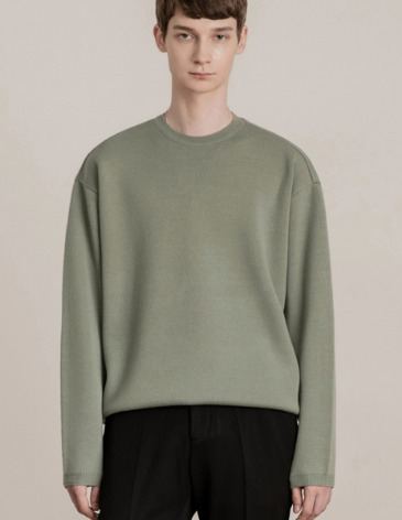 PREMIER EDITION WOOL CASH ROUND KNIT [MINT]