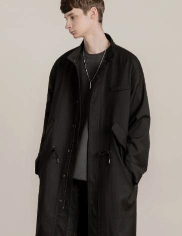 OVERSIZED M-51 COAT JACKET [BLACK]