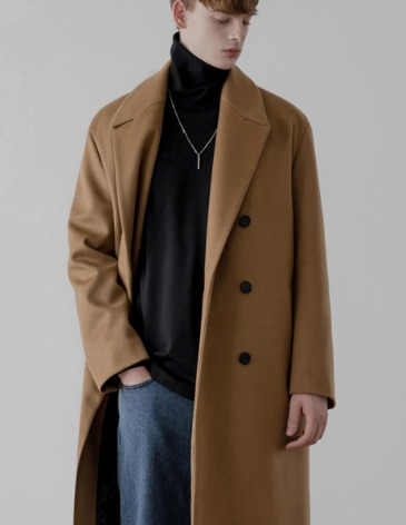 CASHMERE ROBE DOUBLE COAT [CAMEL]