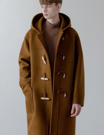SAINT OVER-FIT HEAVY WOOL DUFFEL COAT [CAMEL]