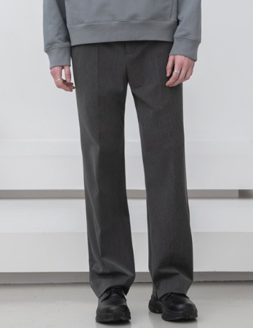 MODERNITY WIDE SLIT SLACKS [GREY]