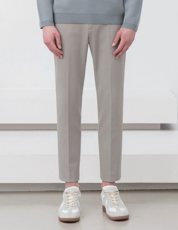 MODERNITY SIDE BANDING SLACKS [L.GREY]