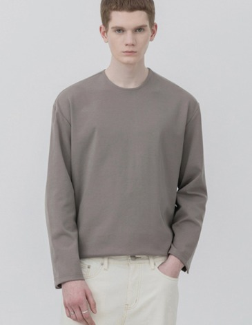 VENT LAYERED T-SHIRT [MOCHA]