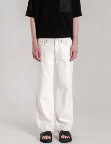 NEWSLO WIDE DENIM PANTS [CREAM]
