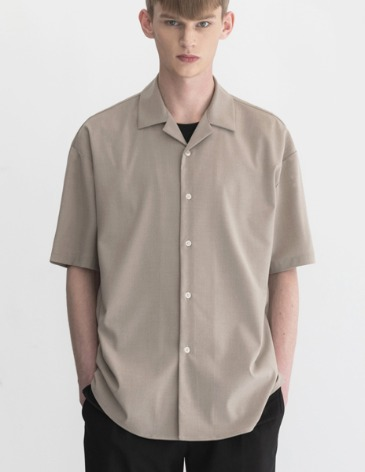 BREEZE OPEN COLLAR SHIRT [OATMEAL]