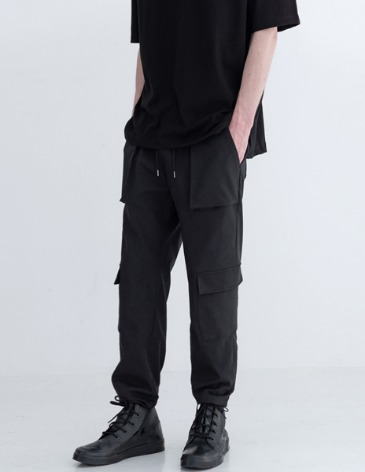 UTILITY CARGO STRING PANTS [BLACK]