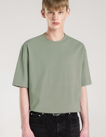 SILKET PIMA COTTON BONDED T-SHIRT [DUSTY GREEN]