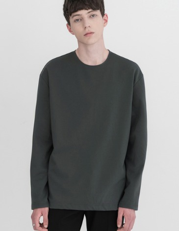 VENT LAYERED T-SHIRT [D.GREY]