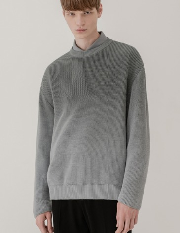 SOFT GRADATION ROUND KNIT [INDI BLUE]
