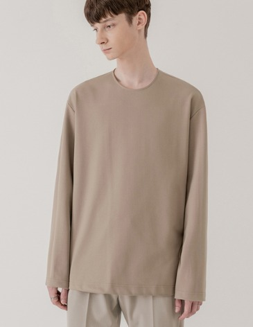 VENT LAYERED T-SHIRT [MOCHA BEIGE]