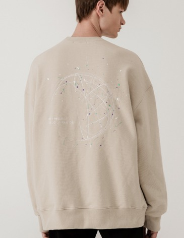 SPLATTER PAINTING SWEAT-SHIRT [DUSTY CREAM]