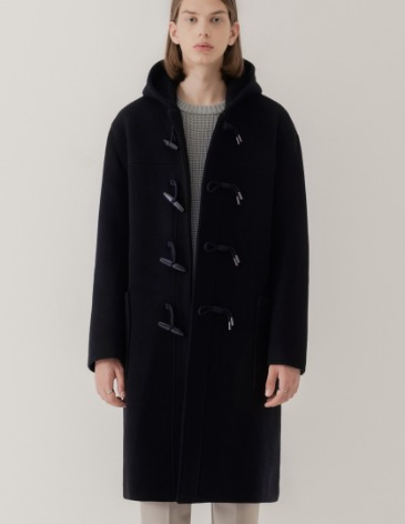 SAINT OVER-FIT HEAVY WOOL DUFFEL COAT [D.NAVY]