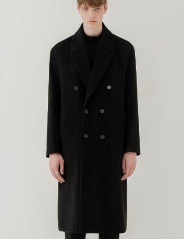 CASHMERE 20 ROBE DOUBLE COAT [BLACK]