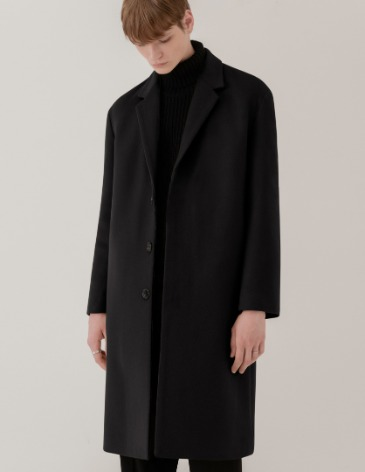 CASHMERE 20 HIDDEN SINGLE COAT [BLACK]