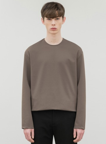 HIGH VENT LAYERED T-SHIRT [MOCHA]