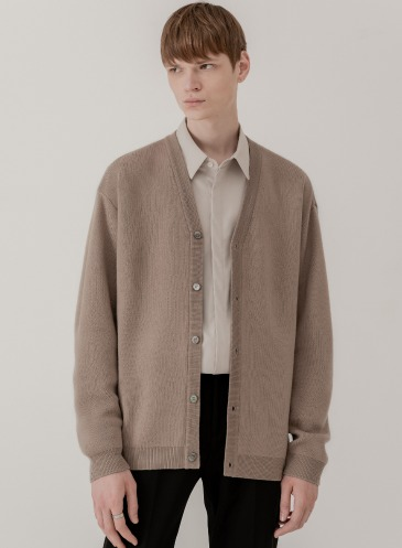 SOF WOOL LOOSE-FIT CARDIGAN [MOCHA]