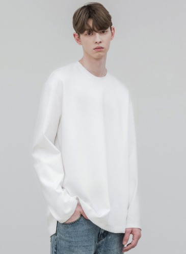 OVER-FIT VENT LAYERED T-SHIRT [WHITE]