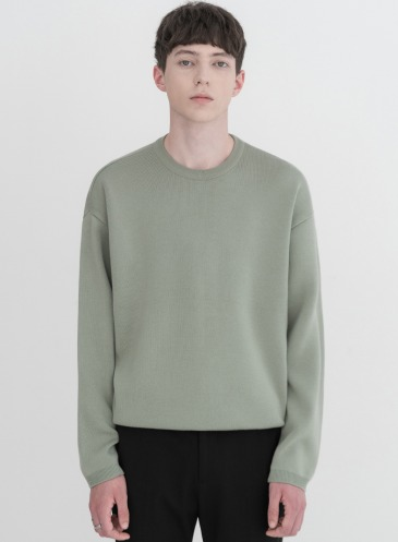 SOF WOOL ROUND KNIT [ASH MINT]