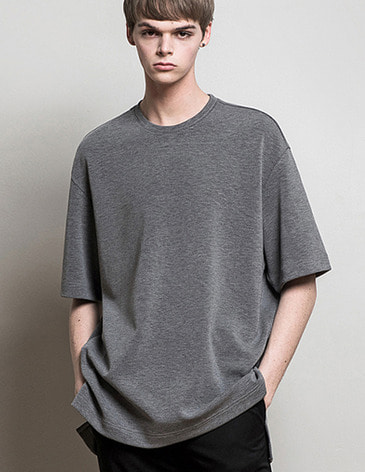 ESSENTIAL BASIC T-SHIRTS [M.GREY]