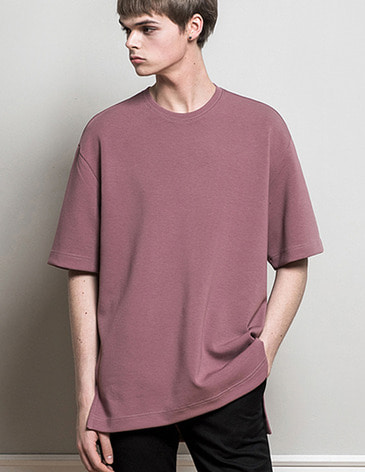 ESSENTIAL BASIC T-SHIRTS [SMOKE PINK]