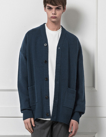 ESSENTIAL CARDIGAN [INDI BLUE]