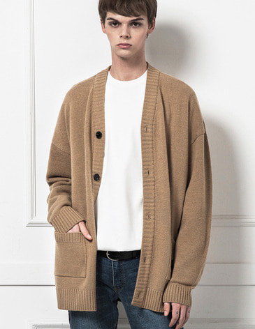 ESSENTIAL CARDIGAN [BEIGE]