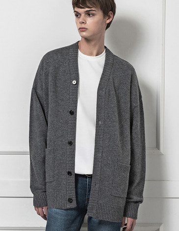 ESSENTIAL CARDIGAN [M.GREY]