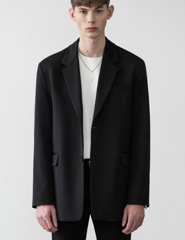 SET UP SINGLE BLAZER [BLACK]
