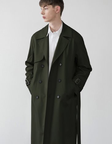 OVERSIZED TRENCH COAT [KHAKI]