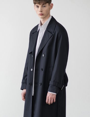 OVERSIZED TRENCH COAT [D.NAVY]