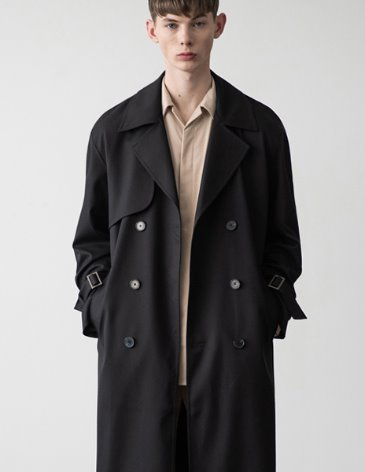 OVERSIZED TRENCH COAT [BLACK]
