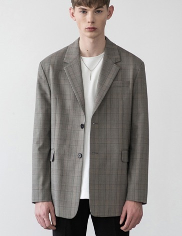 GLEN CHECK SINGLE BLAZER